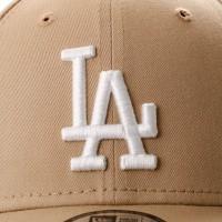Afbeelding van New Era League Essential 9Forty 11946171 Dad Cap Camel/Optic White Los Angeles Dodgers
