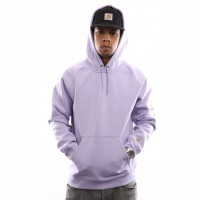 Carhartt Wip Hooded Chase Sweat I026384 Hooded Soft Lavender / Gold