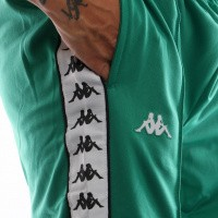 Afbeelding van Kappa 222 Banda Astoria Slim 301EFS0-C53 Trainingsbroek Green-Black-White