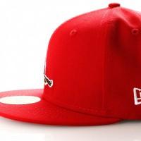 Afbeelding van New Era Coops Wool 11941702 Fitted Cap Scarlet St Louis Cardinals