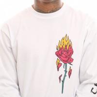 Afbeelding van Vans Flaming Rose Ls Vn0A3W5Pwht Longsleeve White