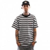 Carhartt Wip S/S Huron T-Shirt I026371 T Shirt Huron Stripe, Black / Cardinal