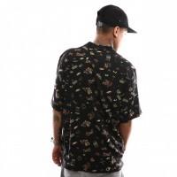 Afbeelding van Carhartt Wip S/S Club Pacific Shirt I026295 Shirt Club Pacific Print, Black