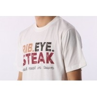 Afbeelding van Rib.Eye.Steak RES-FW17-010 T-shirt RES text Wit