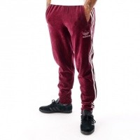 Afbeelding van Adidas VELOUR BB TP DH5784 trackpant MAROON