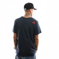 Afbeelding van The North Face M S/S Simple Dome Te T92TX5BER T shirt Urban Navy/Fiery Red