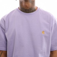 Afbeelding van Carhartt Wip S/S Chase T-Shirt I026391 T Shirt Soft Lavender / Gold