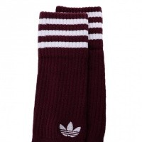 Afbeelding van Adidas SOLID CREW SOCKS 2PP - COLOR PACK DH3361 sokken MAROON/WHITE/WHITE/TACTILE ROSE F17