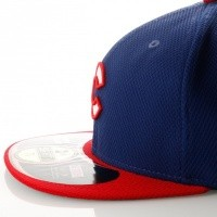 Afbeelding van New Era Diamond Era 21184473 Fitted Cap Royal/Red MLB Chicago Cubbs
