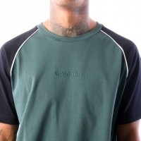 Afbeelding van Wood Bird Players Tee 1836-401 t-shirt Garbage Green/Navy