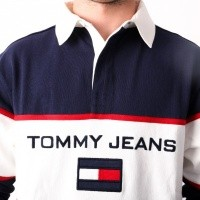 Afbeelding van Tommy Jeans 90s Blocked Rugby Longsleeve Peacoat DM0DM05237-409