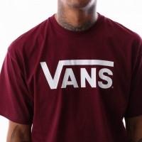 Afbeelding van Vans VANS CLASSIC V00GGGZ28 t-shirt BURGUNDY-WHITE