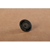 Afbeelding van Rib.Eye.Steak Pins Round logo Wit