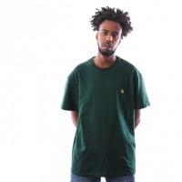 Afbeelding van Carhartt WIP S/S Chase T-Shirt I026391 T shirt Bottle Green / Gold