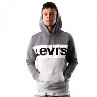 Levi`s Colorblock Hoodie 56613-0001 Hooded Shade / Marshmallow / Grey Htr / Black