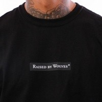 Afbeelding van Raised by Wolves Registered Box Logo Tee RBWFW18501 t Shirt Black Jersey