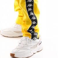 Afbeelding van Kappa 222 Banda Astoria Slim 301Efs0-C67 Trainingsbroek Yellow-Black-White