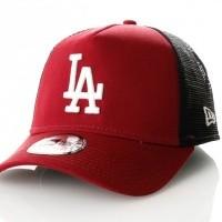 Afbeelding van New Era League Essential Trucker Los Angeles Dodgers 80635927 Trucker Cap Cardinal/Optic White Mlb