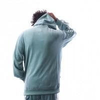 Afbeelding van Adidas COZY HALFZIP DV1624 Hooded 1/4 zip vapour steel