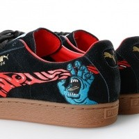 Afbeelding van Puma Puma x Santa Cruz Suede Classic 366321 01 Sneakers Puma Black-High Risk Red