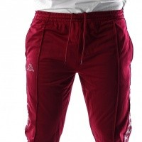 Afbeelding van Kappa Banda Astoria Snaps Slim 303KUE0 Trainingsbroek Red Bordeaux-Grey