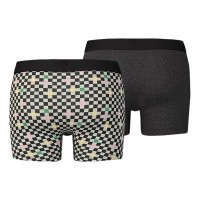 Afbeelding van Levi's Bodywear 985002001-884 Boxershort 200SF checkerboard boxer brief 2p Zwart