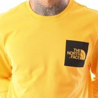 Afbeelding van The North Face M L/S Fine Tee T937FTH6G Longsleeve Zinnia Orange