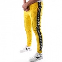Kappa Banda Rastoria Slim 303KUC0 Trainingsbroek Yellow Mustard-Black