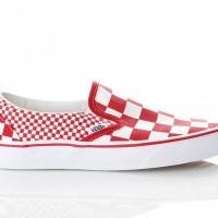 Afbeelding van Vans Ua Classic Slip-On Vn0A38F7Vk5 Sneakers (Mix Checker) Chili Pepper/True White