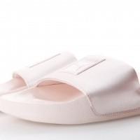 Afbeelding van Puma Ladies 365338-02 Slide sandal Leadcat satin Grijs