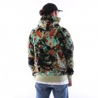 Afbeelding van raised by wolves cargo hooded sweatshirt Speckle Peace Camo French Terry