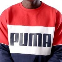 Afbeelding van Puma Retro Crew DK 576836 Crewneck Blue-Red-White