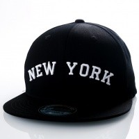 Ethos New York KBN-500NY Black/black/white KBN-500NY dad cap Black/black/white