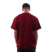 Afbeelding van Carhartt Wip S/S Chase T-Shirt I026391 T Shirt Cranberry / Gold