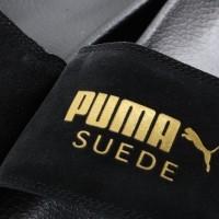 Afbeelding van Puma 365758-01 Slide sandal Leadcat suede Zwart