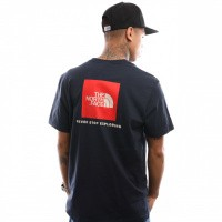 Afbeelding van The North Face M S/S Red Box Tee T92TX2BER T shirt Urban Navy/Fiery Red