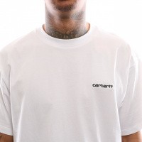 Afbeelding van Carhartt Wip S/S Script Embroidery T-Shirt I025778 T Shirt White / Black