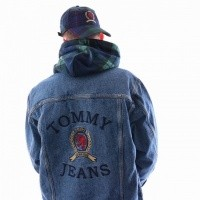 Afbeelding van Tommy Hilfiger TJM CREST FLAG TRUCKER DM0DM05878 Jacket MID DENIM BLUE