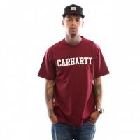 Carhartt WIP S/S College T-Shirt I024772 T shirt Mulberry / White