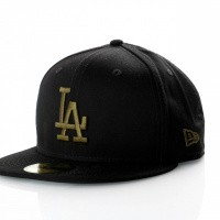 Afbeelding van New Era League Essential 59Fifty 11871513 Fitted Cap Black/New Olive Mlb Los Angeles Dodgers