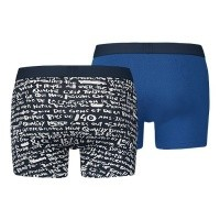 Afbeelding van Levi's Bodywear 985006001-198 Boxershort 200SF scribble print boxer brief 2p Blauw