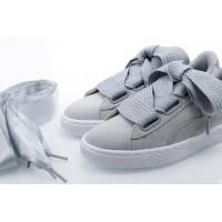 Afbeelding van Puma Ladies 364083-02 Sneakers Suede heart safari Bruin