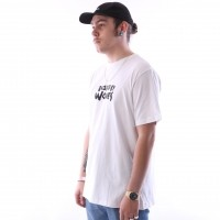 Afbeelding van raised by wolves tag logo t-shirt White Jersey