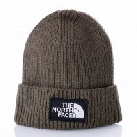 Afbeelding van The North Face TNF LOGO BOX CUFF BE T93FJX21L Muts NEW TAUPE GREEN