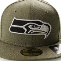 Afbeelding van New Era NFL HEATHER 5950 SEATTLE SEAHAWKS 11794647 Fitted Cap HEATHER ARMY/GRAY/BLACK NFL