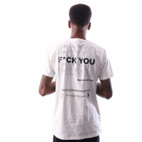 Afbeelding van In Gold We Trust F*Ck You T-Shirt Fa-068 T Shirt White