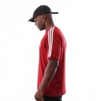 Afbeelding van Adidas 3-STRIPES TEE DH5810 t-shirt CBURGUNDY