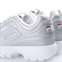 Afbeelding van Fila Ladies 1010303-3VW Sneakers Disruptor metallic Zilver