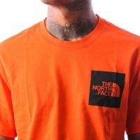 Afbeelding van The North Face M S/S FINE TEE T0CEQ5V0W T shirt PERSIAN ORANGE