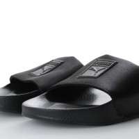 Afbeelding van Puma Ladies 365338-01 Slide sandal Leadcat satin Zwart